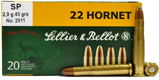 Sellier and Bellot 22 Hornet 45 Grain SP (20)